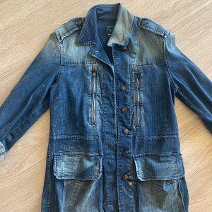 Distressed Jean Coat from ZARA